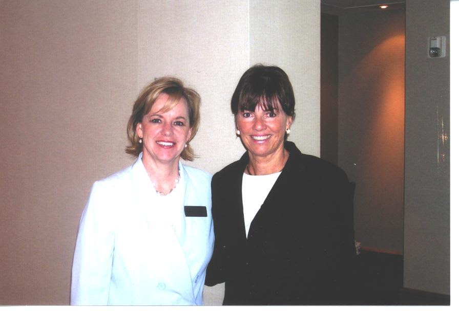 JoAnn Moore with Peggy Post