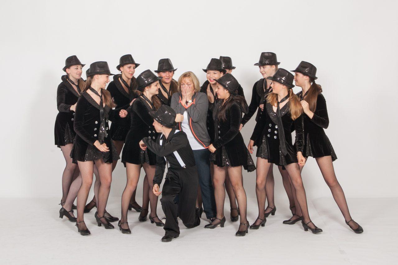 JoAnn with Dance Team