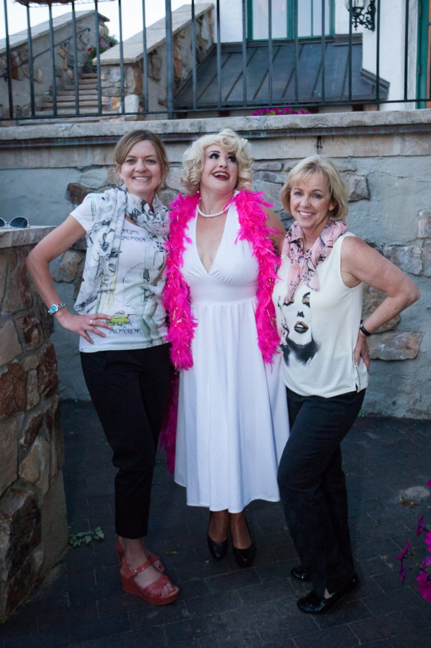 JoAnn and Mindy with Celebrity Marilyn Monroe